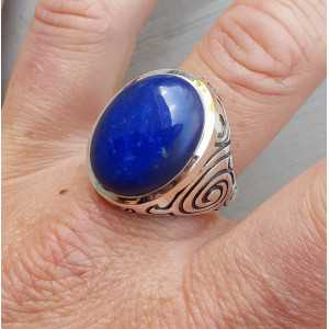 Silver ring set with Lapis Lazuli (men ring) 20.5 mm