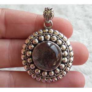 Silver pendant round Toermalijnkwarts in any setting