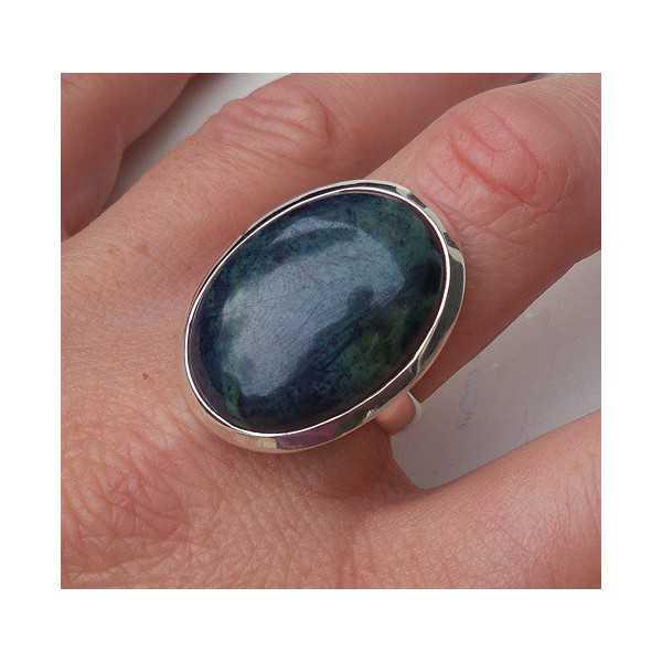Silber ring mit ovalen Vivianiet Größe 18,5 mm