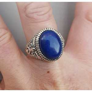 Silver ring with oval Lapis Lazuli men ring) 20 mm