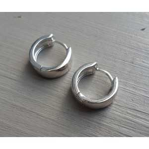 Creoles silver plated