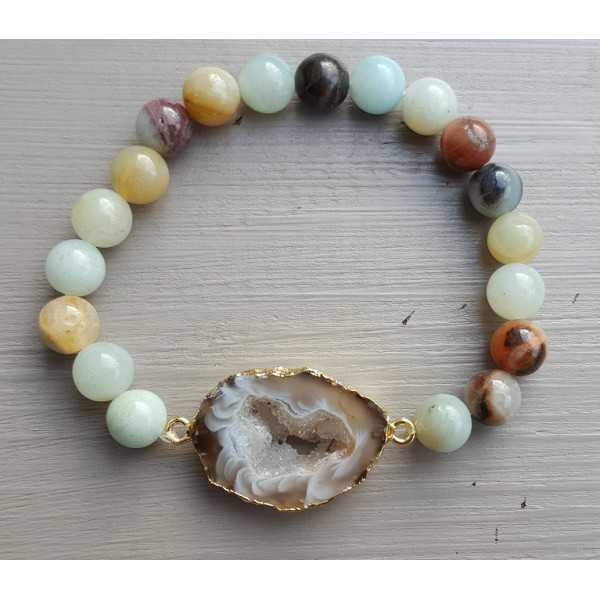 Armband mit Geode Achat und Amazonit