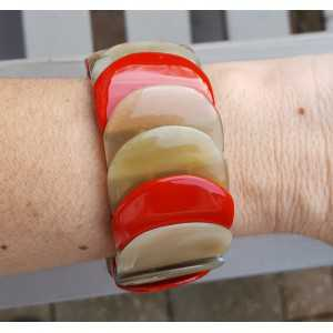 Armband aus buffalo horn rot lackiert
