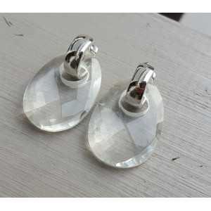 Kreolen oval Kristall Anhänger