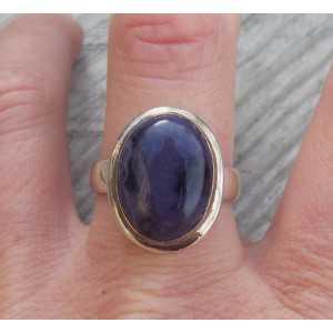 Silber ring set mit Sugiliet ring Größe 19 mm