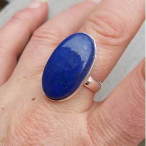 Silber ring set mit ovalen Lapis-Lazuli-19.7 mm
