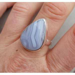 Silber ring mit blauen Spitze-Achat-19