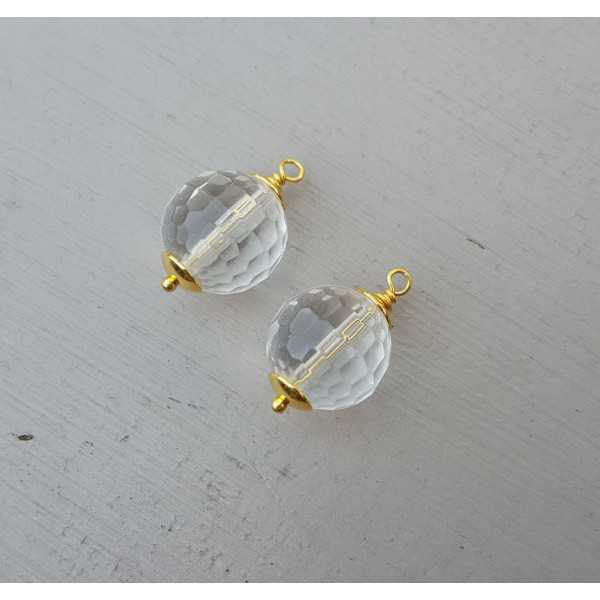 Gold plated loose pendant set with a Citrine