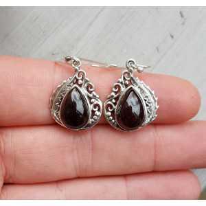Silber Ohrringe-set mit Granat