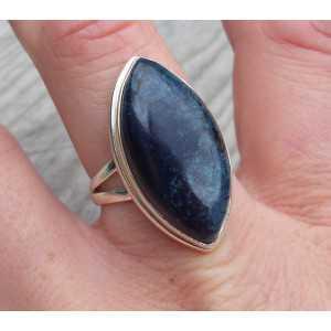 Zilveren ring gezet met marquise Vivianiet 18 mm