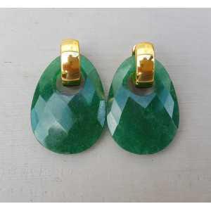 Creoles oval Emerald pendant