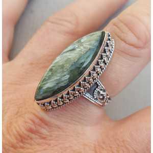Silber ring mit marquise Seraphiniet editiert Einstellung 18 mm