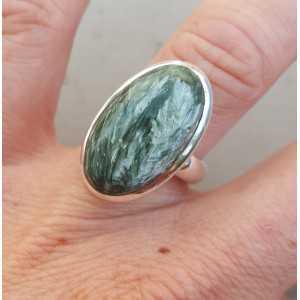 Silber ring set mit ovalen Seraphiniet 17 mm