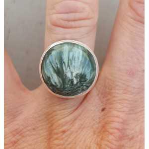 Silber ring set mit Runde Seraphiniet 17 mm