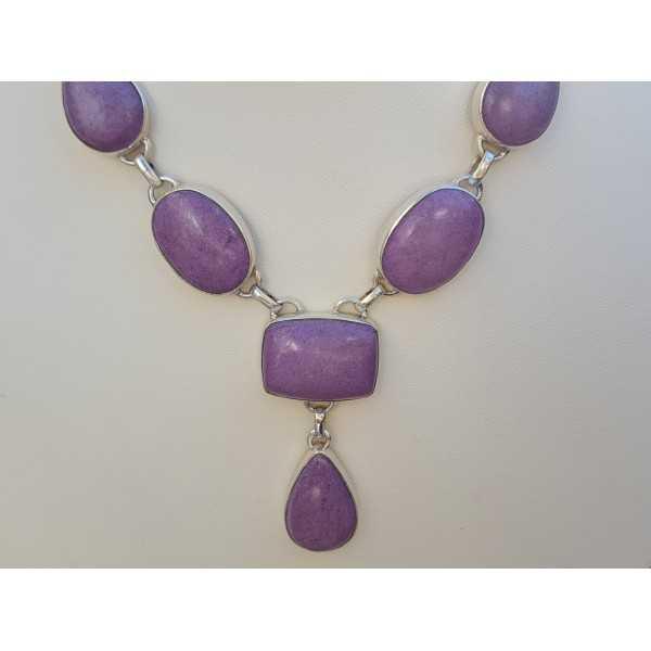Silber Halskette set mit Purpuriet
