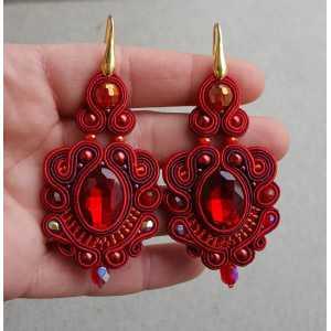 Ohrringe mit roten handmade-Anhänger