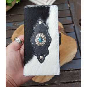 Cowhide phone smartphone black and white