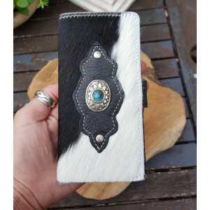 Koeienhuid telefoonhoesje smartphone zwart wit