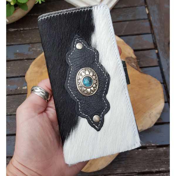 Rindsleder Handy smartphone-schwarz und weiß