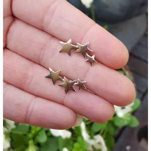 Silber earclimber mit silbernen Sternen