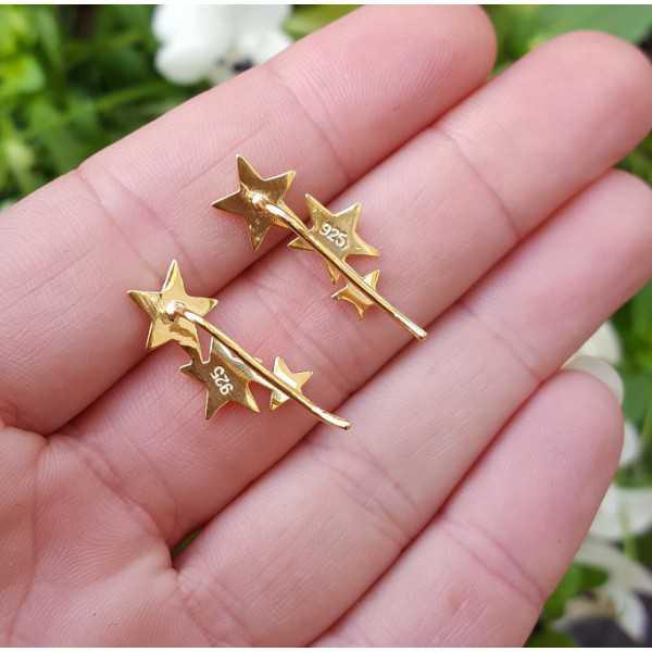 Vergoldete earclimber mit silbernen Sternen