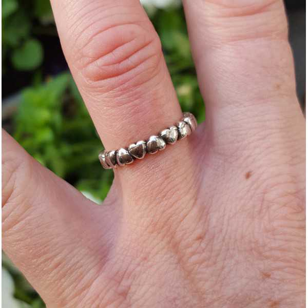 Silber ring Herzen einstellbar