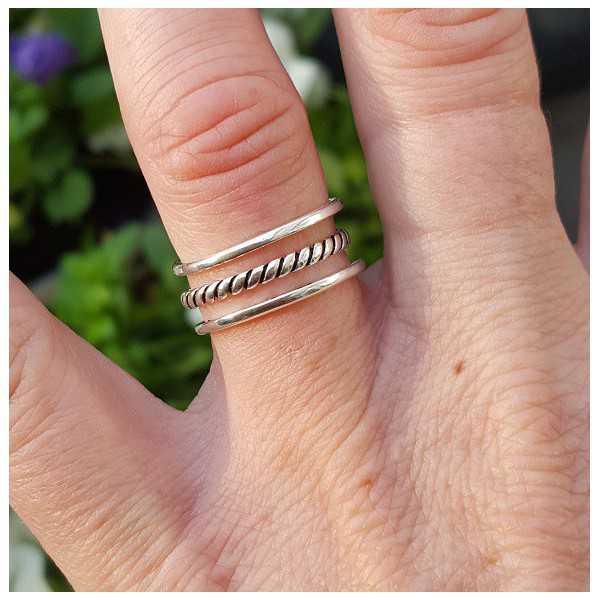 Silber-ring, in drei Ebenen verstellbar