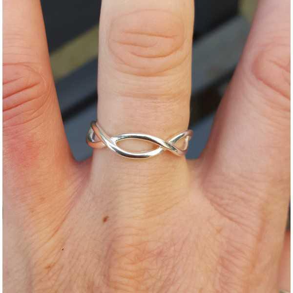 Silber-ring Wellen einstellbar