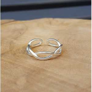 Zilveren ring golven verstelbaar