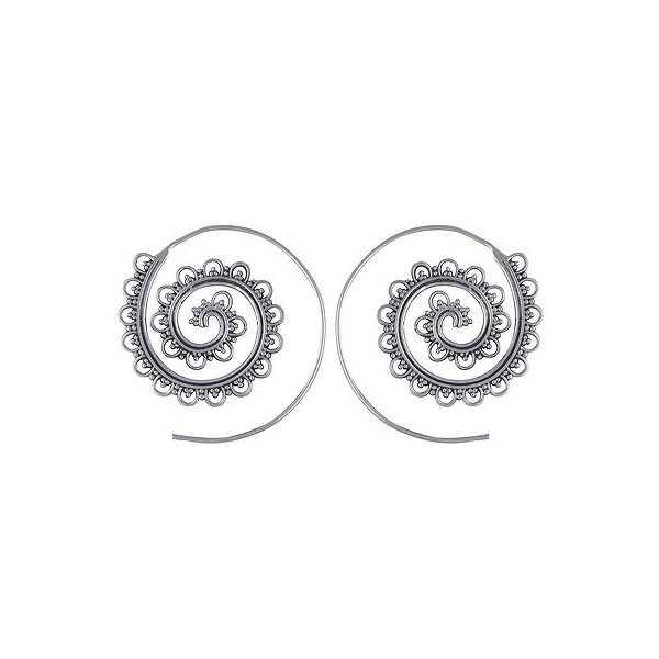 Silver spiral creoles 03