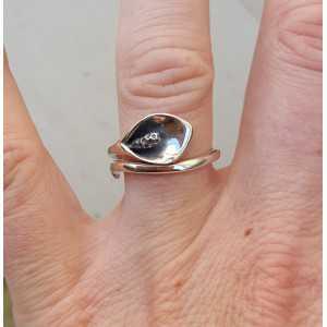 Silber ring mit arum einstellbar