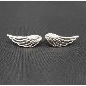 Zilveren earclimber vleugel met Zirkonia