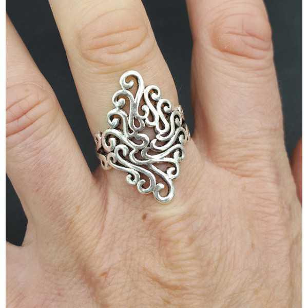 Zilveren boho ring verstelbaar