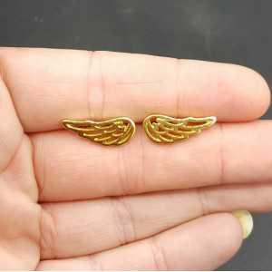 Oorknoppen Flügel in Silber, gold oder rose gold