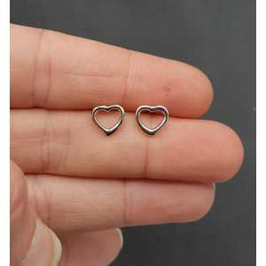 Silver oorknopjes heart