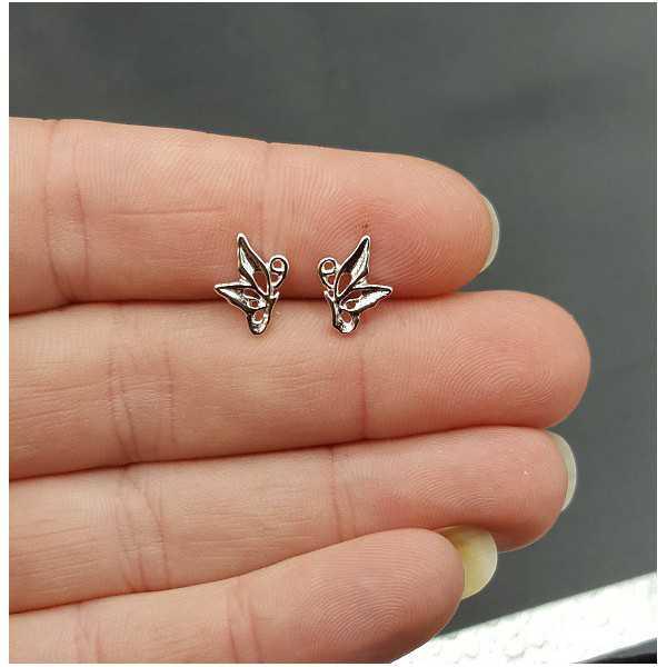 Silber oorknopjes Schmetterling