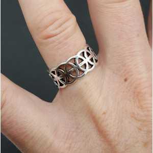 Silver celtic ring adjustable