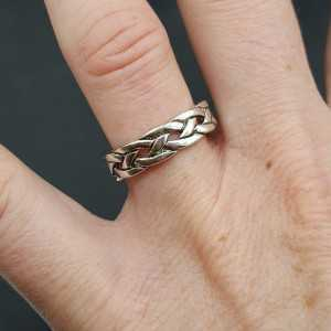 Silver ring braided adjustable