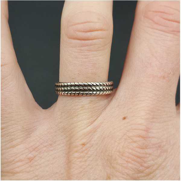 Silber-band-ring verstellbar