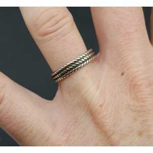 Silver band ring adjustable