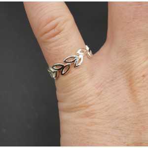 Silber ring Blüten einstellbar