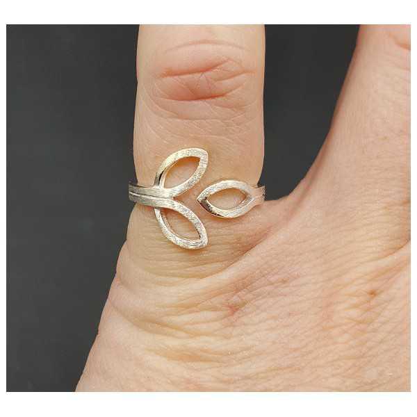Zilveren ring verstelbaar
