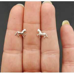 Silber oorknopjes Pferd