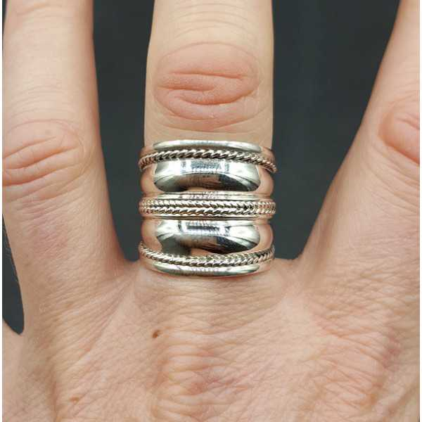 Silber Breite bali-ring 18 mm