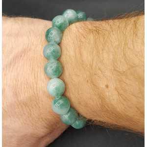 Stretch-Armband mit Jade