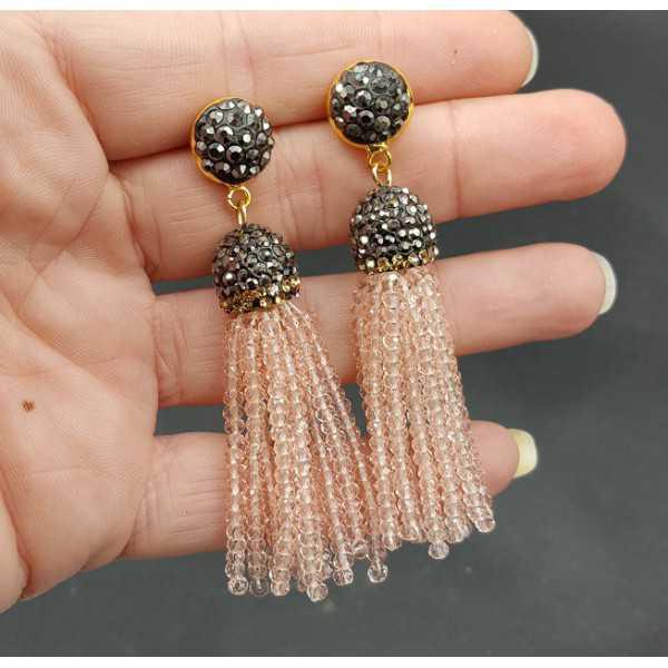 Quaste Ohrringe mit Licht toze Kristalle