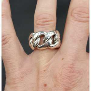 Silver wide link ring 17.5 mm