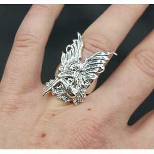 Zilveren ring  elf 17 mm