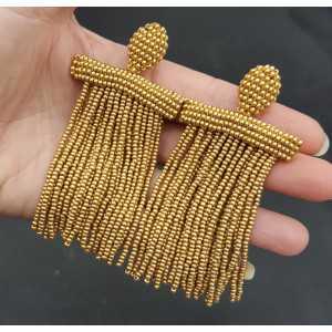 Gold Wasserfall Quaste Ohrringe