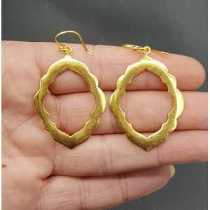 Goud vergulde oorbellen Fatamorgana